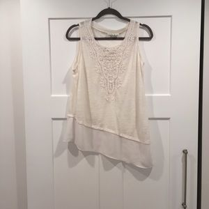 Sleeveless Ivory Top